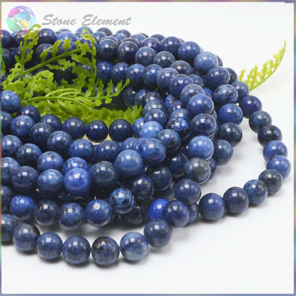 Natural Dumortierite Stone / Jasper Loose Round Beads 8mm