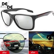 New Photochromic Polarized Sunglasses Men Car Driving Goggles Chameleon Sunglass Male Discoloration Glasses B1037