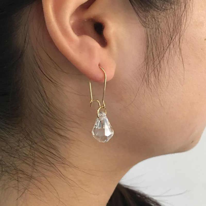 TDQUEEN A Goccia di Cristallo Ciondola Gli Orecchini Nero di Colore Chiaro Coreano Stile Semplice Dell'orecchio Del Pendente Dei Monili Delle Donne Bella Orecchino di Goccia