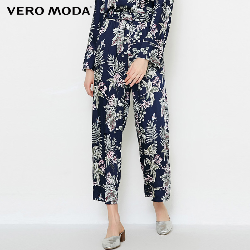 Vero Moda 2019 Women's Spring & Summer Printed Straight Fit Crop Pajama Pants  3182P7503