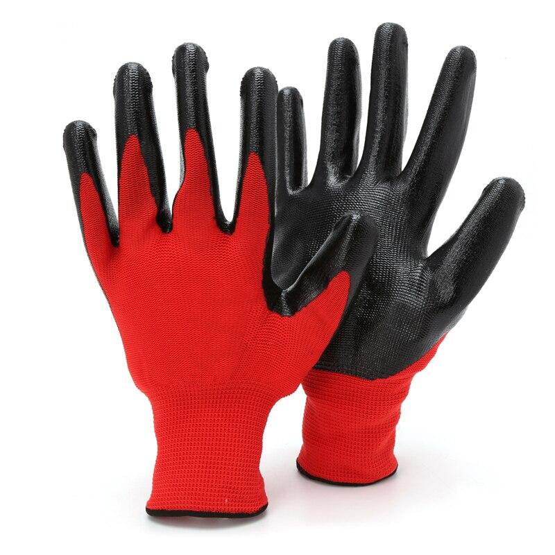 1 Paar Nitril Beschichtet Arbeits Handschuhe Nylon Sicherheit Arbeit Fabrik Garten Reparatur