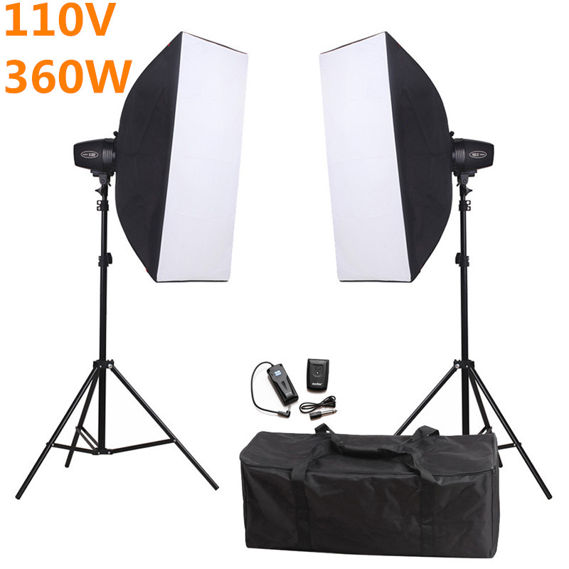 Godox K-180A Photography Soft Box Flash Lighting Kit 360w 110V Storbe Flash+Softbox+Stand+Trigger Receiver Photo Studio Set original new touch screen 10 1 archos 101b xs2 tablet touch panel digitizer glass sensor replacement free ship