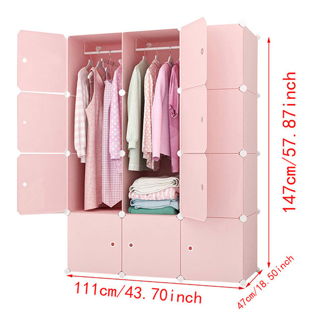 Charmant Online Shop DIY Closet Home Clothes Storage Hanging Wardrobe Waterproof  Closet Assembled Wardrobes Bedroom Furniture Storage Cabinet | Aliexpress  Mobile