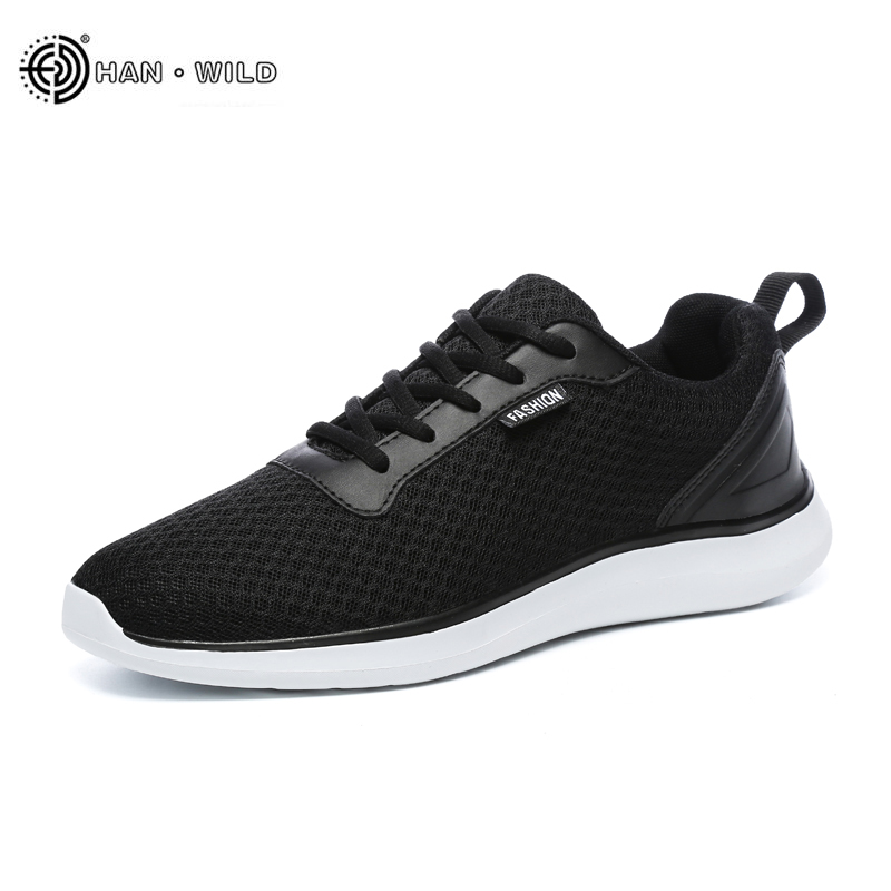 Fashion Men Casual Shoes 2018 Spring Breathable Mesh Lace Up Flats Mens Shoe Male Sneakers Big Plus Size 39-48 breathable spring plus size 37 to 48 men flats shoes luxury fashion mens casual shoe high quality genuine leather shoes for man