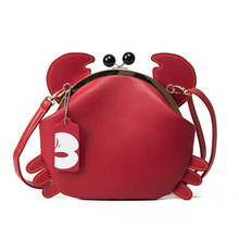 Fashion Cute Crab Shoulder Bag Personality Design Pu Leather Coin Purse Womens Shopping Party Mini Messenger