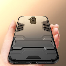 Luxury 3D Cool Armor Case For Huawei Mate 20 lite Hybrid PC+TPU Shockproof Rugged Pro Stand Cover