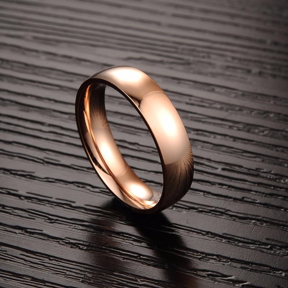hot wholesale couples rose gold ring designs for men girl titanium