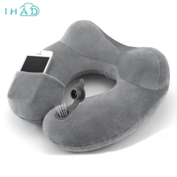 DIY kullanılan üfleme U şekilli katlanabilir taşınabilir yastık boyun korumak seyahat araba düzlem içinde postane istirahat boyun daha dinlenmek yapmak