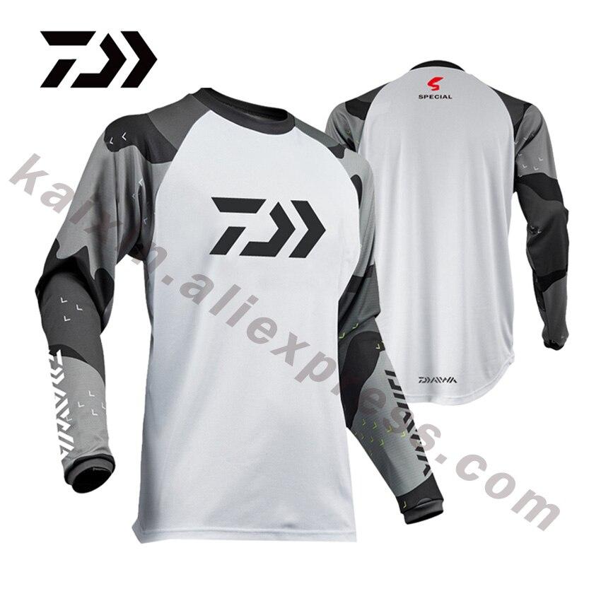 DAIWA 5 Estilo XS-5XL nuevo estilo ropa de pesca 2019 tamaño Daiwa ropa de pesca Camiseta anti-UV ropa de pesca DAWA Camisas