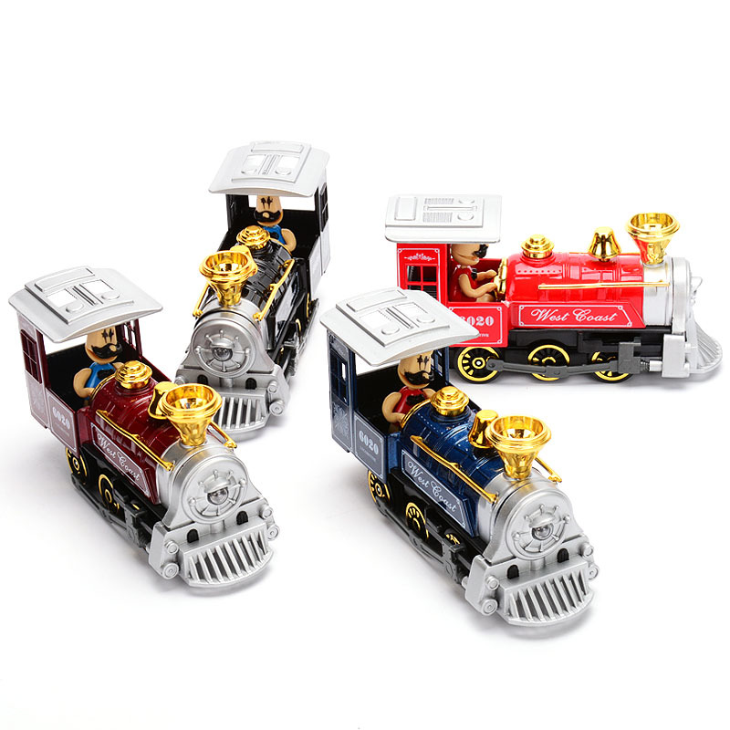 New The Old Train Model Alloy Diecast Car Model Pull Back Toy Cars Electronic Car with