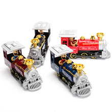 New The Old Train Model Alloy Diecast Car Model Pull Back Toy Cars Electronic Car with light&sound Kids Toys Gifts
