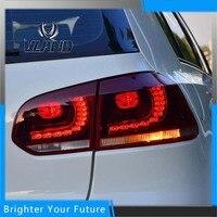 Vland Tail lights Rear Lamp For VW Volkswagen Golf MK6 VI GTD/GTI 2009 2013 LED Red Taillights