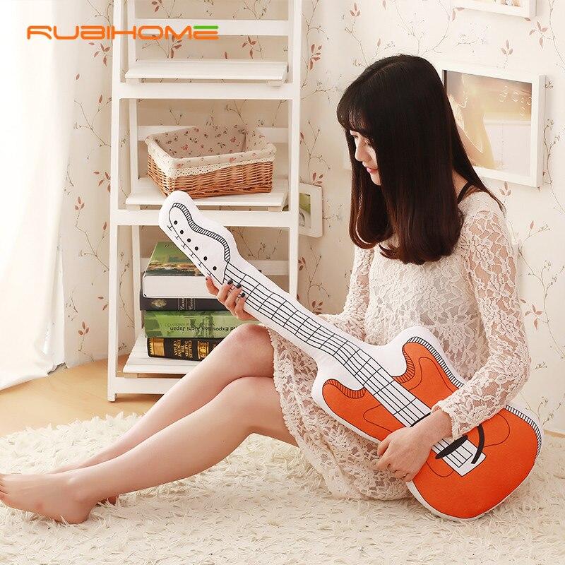Rubihome 3d Design Emulation Guitar Decorative Cushions