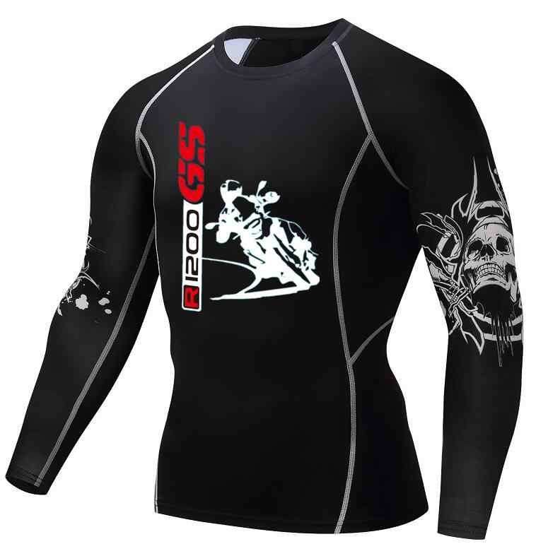 R1200 GS T-S adventure Мужская футболка модная 3D футболка с длинным рукавом с изображением волка для бодибилдинга быстросохнущая Футболка с принтом ММА для фитнеса