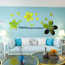 Flower shape Petals 3D acrylic Wall Sticker For Home wall decor art