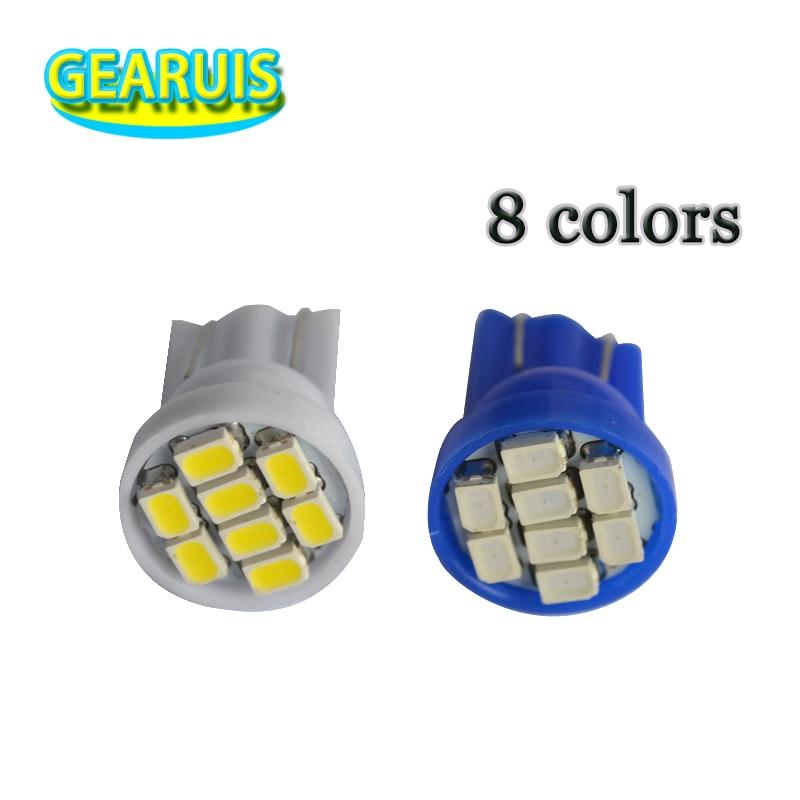 200pcs Truck LED 24V T10 W5W 8 SMD 1206 3020 LED 8SMD 8LED Wedge Light bulbs