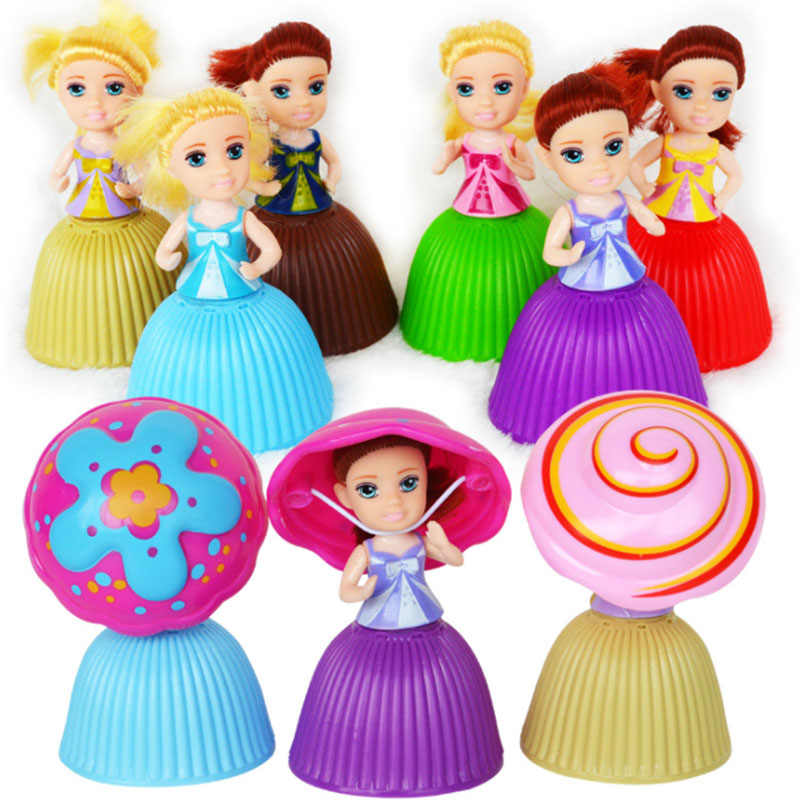 6 Colors Style Cupcake Doll Princess Cupcake Surprise Doll Deformable Bonecas Toys For Children Birthday Mini Cup Cake Doll