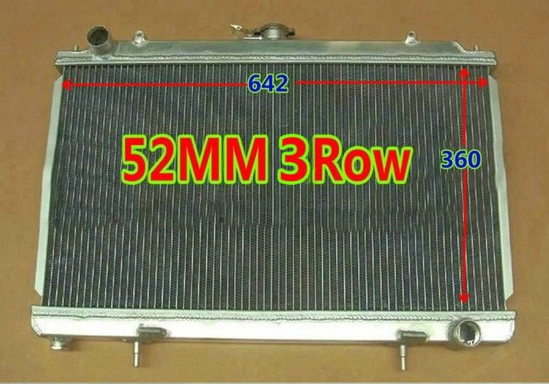 For Nissan Silvia S14 S15 SR20DET SR20 240SX 200SX 1994 2002 Manual 3ROW 52MM Aluminum Racing