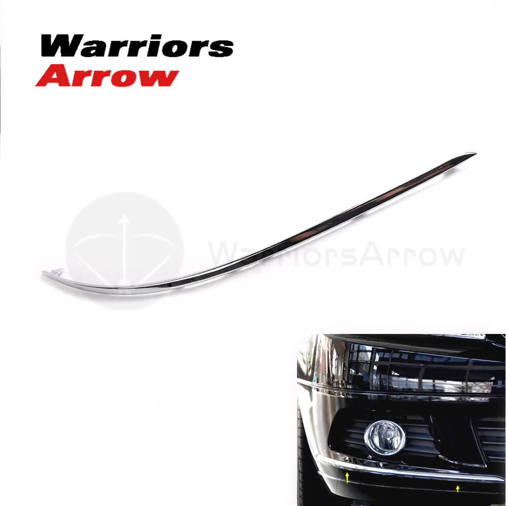 2048850821 For <font><b>Mercedes</b></font>-Benz W204 <font><b>C300</b></font> C350 2007 2008 2010 2011 Avantgarde Front Bumper Chrome Trim Molding Right Side image