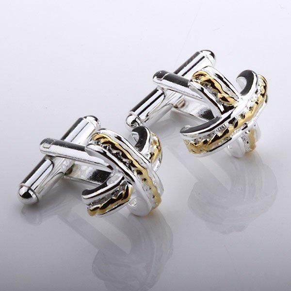 Guaranteed 100% New 925 silver jewelry silver-plated fashion X shape cufflink cuff link FC22