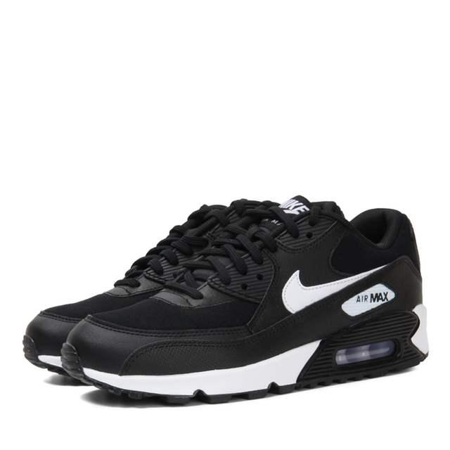 Womens Nike Air Max 90 Black Purple Sports Shoes Breathable
