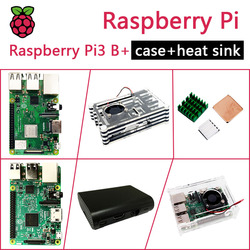 In Stock New Raspberry PI 3 Model B+/B Package Include Raspberry Pi 3 Model B/B PLUS & Case & Heat Sink