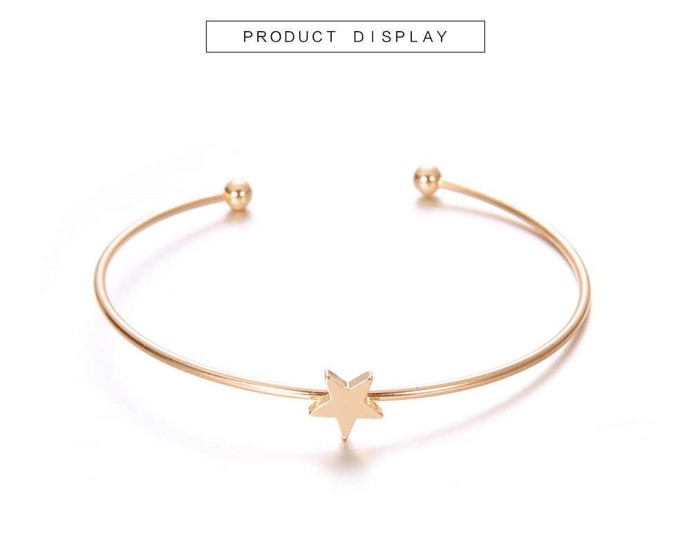 DIEZI корейский милый модный Луна Звезда Сердце Шарм Браслет наборы для женщин серебристые золотые стразы браслеты бусины Ювелирные изделия Подарки