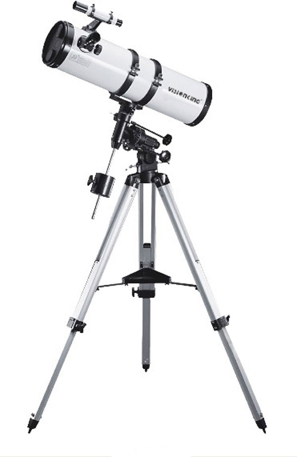 Visionking 5.9 In 150-750  Newtonian Telescope Equatorial Mount Reflector Astronomical Telescope W/Motor Drive Auto Tracking entry level 3 inches 76 700mm reflector newtonian astronomical telescope black white