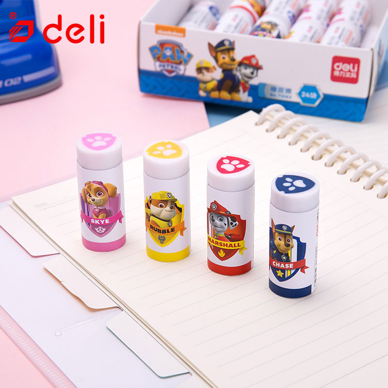 Deli 1pc Cute Kawaii Eraser Cute Dog Rubber Pencil Eraser School Student Eraser School Supplies Stationery Items Children Gift