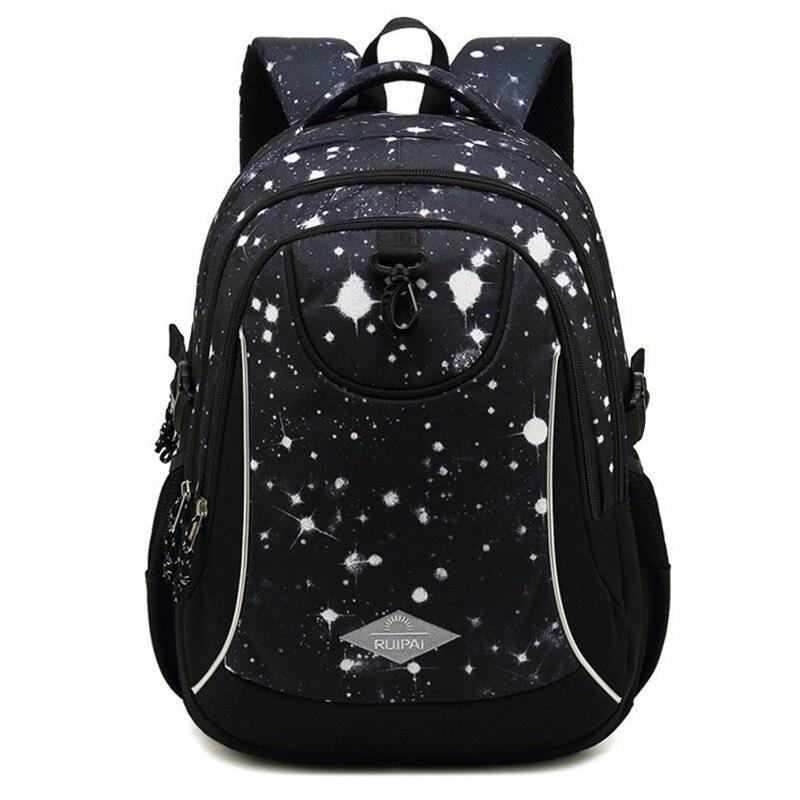 New Large Women Schoolbag Cute Student School Backpack Printed Waterproof Bagpack School Book Bags For Teenage Girls Kids