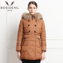 BOSIDENG winter women's clothing down coat thick medium long down coat slim outwear natural fur collar B1301226