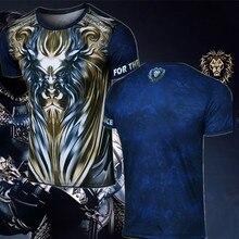 Boy Girl Tees Game WoW Alliance LionT Shirt Short Sleeve O-Neck WOW King Ryan T-Shirt