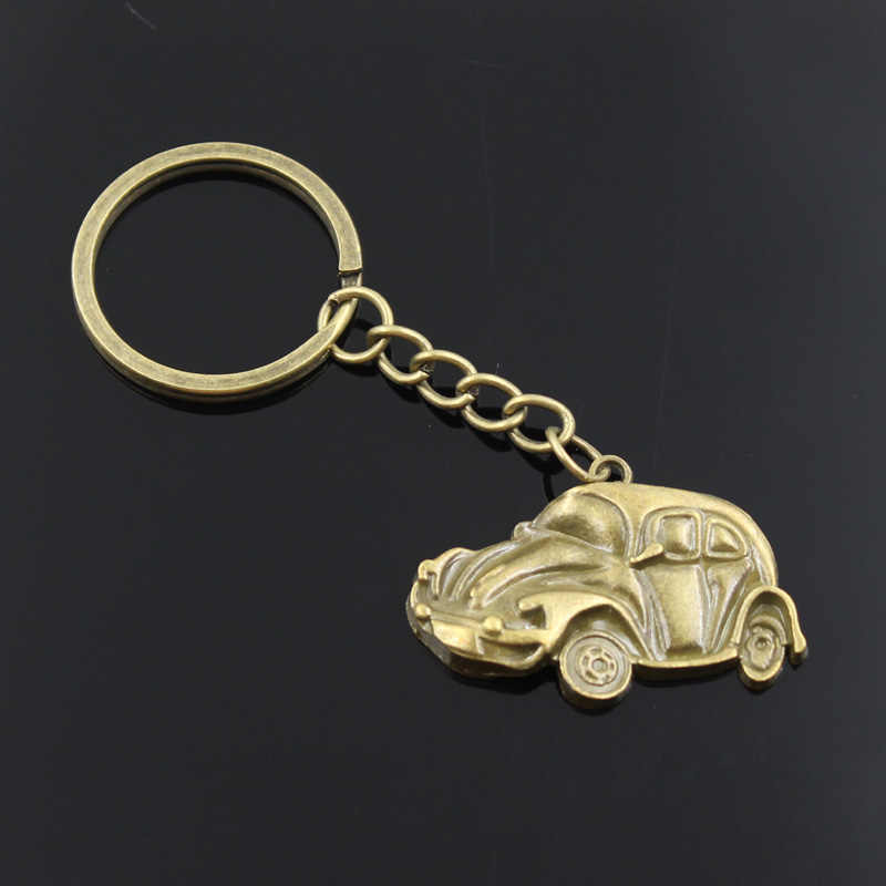 ... new fashion men 30mm keychain DIY metal holder chain vintage car bug  beetle herbie 39  8d28a81434
