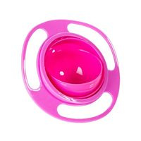 Children Tableware Non Spill Bowl Toy Dishes Universal 360 Rotate Avoid Food Spilling Food Snacks Baby Shower Practical