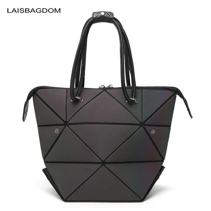 Geometry Laser Women Bao Bao Bags Women Shoulder Bag Transformation Luminous Laser Geometric Bag Diamond Lattice Women Handbags demeter honeysuckle 30