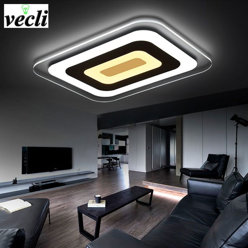 Led ceiling lamps, modern minimalist living room lamps warm bedroom lamp rectangular dining study atmosphere ultra-thin lamp bar modern minimalist ceiling lamps led lamps lighting acrylic stars children s room warm ultra thin bedroom lamp