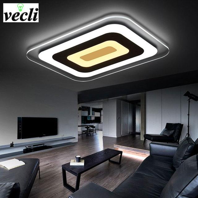 Fabulous Led Modernen Wohnzimmer Lampen Warmes Lampe Rechteckige Speisesaal  Studie Atmosphre Ultradnne Lampe With Wohnzimmer Lampen Led