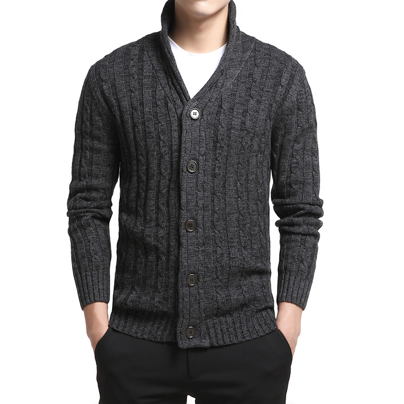 New Brand Drop Shipping Sweater Men Mens Sweaters Cardigan Male Fashion Casul V-Neck Solid Slim Fit Knitting Clothes Plus Size