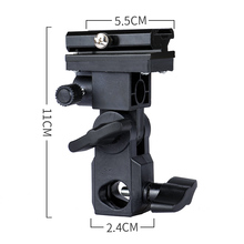 все цены на B Type Flash Hot Shoe Adapter Trigger Umbrella Holder Swivel Light Stand Bracket онлайн