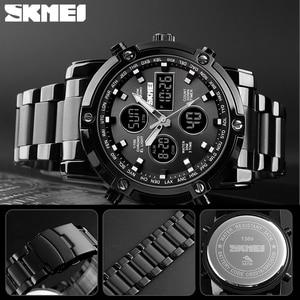 Image 5 - SKMEI דיגיטלי קוורץ שעון גברים חיצוני ספורט ספירה לאחור עמיד למים נירוסטה רצועת שעוני יד גברים שעון Relogio Masculino