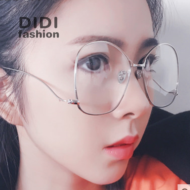 didi unique military alloy glasses frames ball decoration luxury brand clear glasses frame oversized prescription eyewear