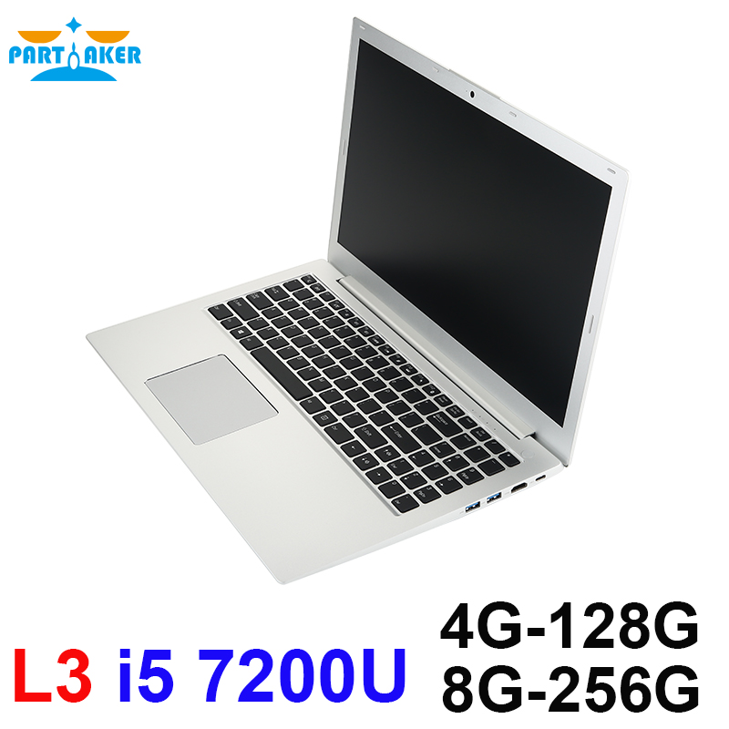 Parpreneur Intel Core I5 7200U PC portable avec DDR4 RAM boîtier métal complet préinstallé windows10 L3