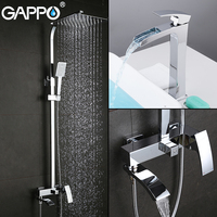 O Basin Faucets bathroom shower set with basin faucet brass shower mixer chrome bath faucet mixers bath set shower system