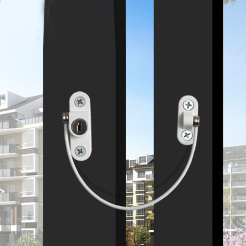 Baby Safety Lock Window Door Restrictor Security Cable Lock Catch Wire Opening Restrictor Hot Sale Baby Kids Safety Production