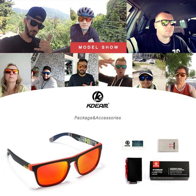 Fashion Guy's Sun Glasses From KDEAM Polarized Sunglasses Men Classic Design All-Fit Mirror Sunglass With Brand Box CE 10
