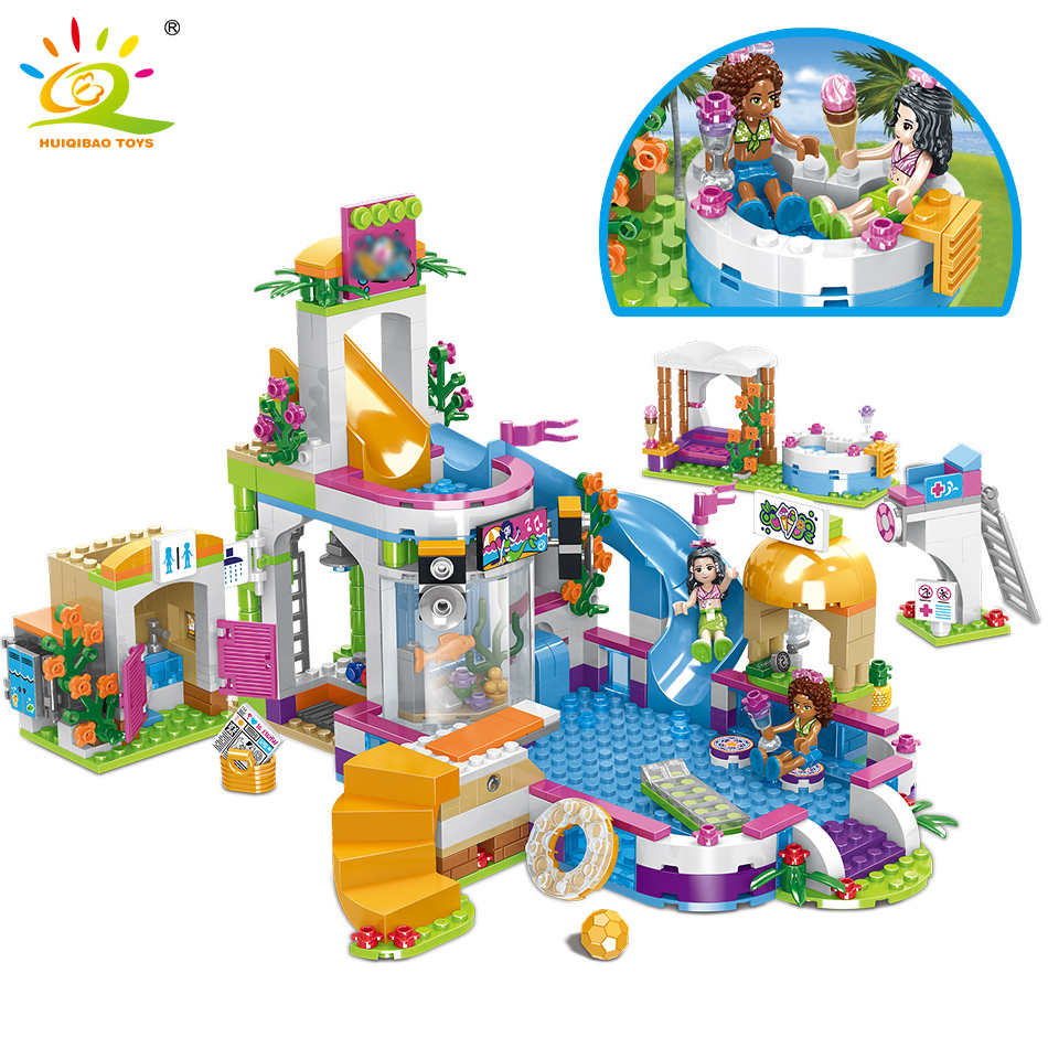 768pcs Friends City Swimming Pool Water Park Building Blocks Toys Compatible Legoingly Girls Friend House DIY Bricks Toys Friend768pcs Friends City Swimming Pool Water Park Building Blocks Toys Compatible Legoingly Girls Friend House DIY Bricks Toys Friend