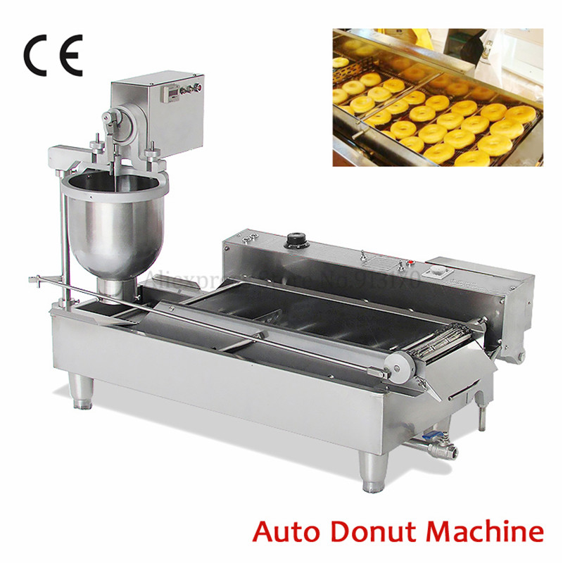 Automatic Donut Fryer Machine Electric Doughnut Maker Commercial Donuts Machine for Bakehouse Catering Industrie 220V/110V 110v 220v non stick commercial electric sweet donut machine 6pcs donut fryer waffle maker commercial cake machine free shipping