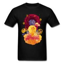 Bright World T-shirt Men Diver Lion Print T Shirt Summer Black Clothing Creative Design Cartoon Tops Slim Fit Cotton Tees Cool