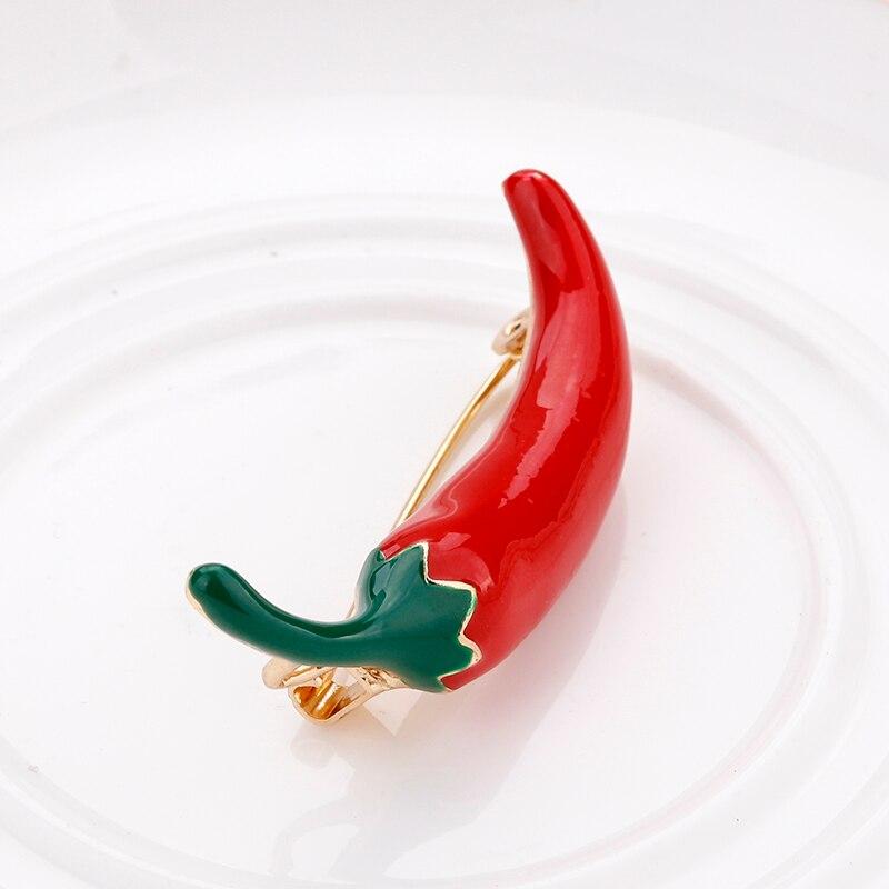 Pepper Accessories Chili Pepper Brooch Hot Pepper Brooch Rockabilly Brooch Kitsch Brooch Pinup Accessories, Cinco de Mayo Pepper Pin