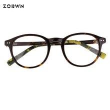03c1de5e2266d ZOBWN hot 2018 small quantity sale gafas eyeglasses round eyewear Frame  myopia glasses frame comfortable black eyeglasses frame
